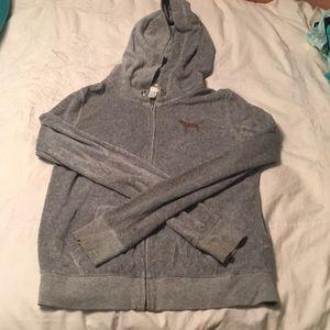 Jackets & Blazers - PINK gray felt zip up jacket
